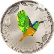 100 Francs CFA (Green Sunbird) – reverse