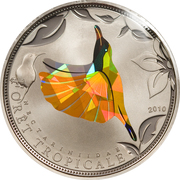 100 Francs CFA (Yellow Sunbird) – reverse