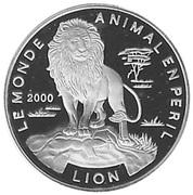 1000 Francs CFA (Lion) – reverse