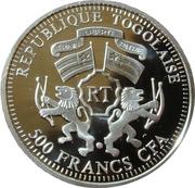 500 Francs CFA (Joan of Arc) – obverse