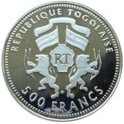 500 Francs CFA (XVIII World Cup - Germany 2006) – obverse