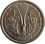 1 Franc - Territoire du Togo – reverse