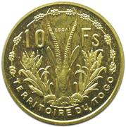 10 Francs Union française (Essai) – reverse
