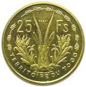 25 Francs (Essai FDC) – reverse