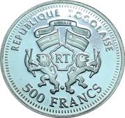 500 Francs CFA (Goethe / Schiller) – obverse