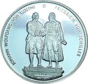500 Francs CFA (Goethe / Schiller) – reverse