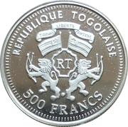 500 Francs CFA (Helmut Schmidt) – obverse