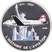 1000 Francs CFA (Douglas DC-4) – reverse