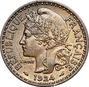 2 Francs Territoires sous mandat – obverse