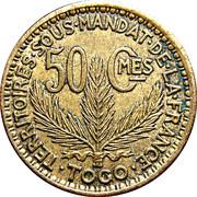 50 Centimes (Territoires sous mandat) – reverse