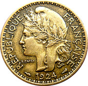 1 Franc Territoires sous mandat – obverse
