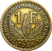 1 Franc Territoires sous mandat – reverse