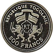 500 Francs CFA (Albert Einstein) – obverse