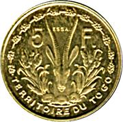 5 Francs Union française – reverse