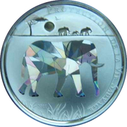 100 Francs CFA - Togo (elephant) – reverse