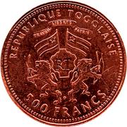500 Francs CFA (Gorch Fock; copper) – obverse