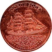 500 Francs CFA (Gorch Fock; copper) – reverse