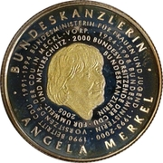 250 Francs CFA (Angela Merkel) – reverse