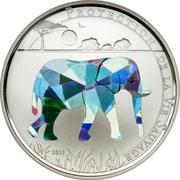 100 Francs CFA (Elephant) – reverse