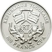100 Francs CFA (Lion) – obverse