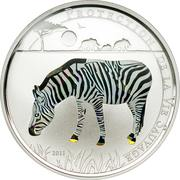 100 Francs CFA (Zebra) – reverse