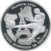 1000 Francs CFA (World Cup - France 1938) – reverse