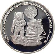 500 Francs CFA (30th birthday of the first landing on the Moon) – reverse
