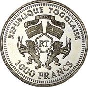1000 Francs CFA (World Cup Soccer - Bern 1954) – obverse
