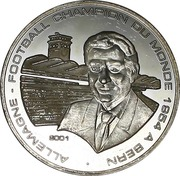 1000 Francs CFA (World Cup Soccer - Bern 1954) – reverse