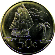 50 Cents - Elizabeth II (4th portrait) – reverse