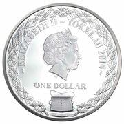 1 Dollar - Elizabeth II (Ying Yang Horses) – obverse