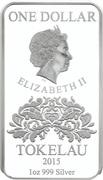 1 Dollar - Elizabeth II (Clubs) – obverse
