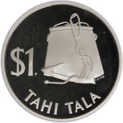 1 Tala - Elizabeth II (2nd portrait; Silver Proof Issue) – reverse