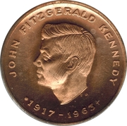 Token - In tribute to the memory of President J.F. Kennedy – obverse