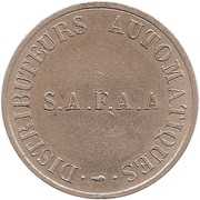 Token - SAFAA (Distributeurs Automatiques) – obverse