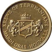 Mardi Gras Token - Krewe of Terreanians (Houma, Louisiana) – obverse
