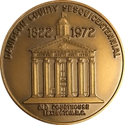 Token - Sesquicentennial Davidson County, North Carolina – obverse