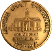 Token - Bicentennial Chatham County, North Carolina – obverse