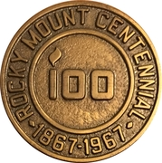 Token - Centennial Rocky Mount, North Carolina – obverse