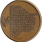 Token - Phoenix, Arizona Centennial – reverse