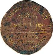 Token - Lewis & Clark (Portland, Oregon) – reverse