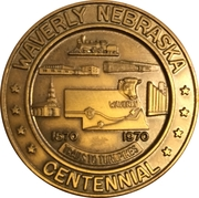 Token - Centennial Waverly, Nebraska – obverse