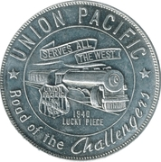 Token - Union Pacific (1940 Lucky Piece) – obverse