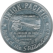 Token - Union Pacific (1940 Lucky Piece) – reverse