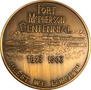 Token - Centennial Fort McPherson, Nebraska – obverse