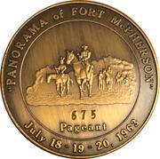Token - Centennial Fort McPherson, Nebraska – reverse