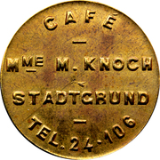 Token - Café Knoch (Stadtgrund) – obverse