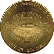50 Cents - Perinton Sesquicentennial (Town of Perinton, N.Y.) – obverse
