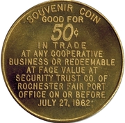 50 Cents - Perinton Sesquicentennial (Town of Perinton, N.Y.) – reverse