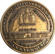 Token - Centennial David City, Nebraska – obverse